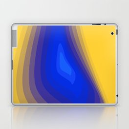 Blue and yellow Laptop & iPad Skin