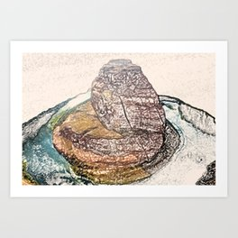 ArtWork Horseshoe Bend Arizona USA Grand Canyon Art Work Paint Painting Art Print