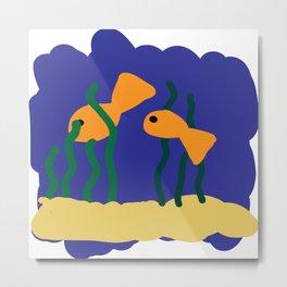 fish in the water Metal Print