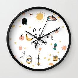 Me quiero mucho Wall Clock