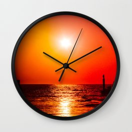 Surreal sunset Wall Clock