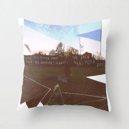 SFT cut up Throw Pillow