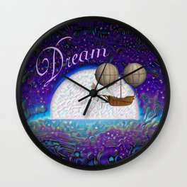 Halcyon Dreams Wall Clock