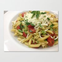 pasta Canvas Prints featuring pasta by Albano Juliano