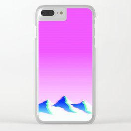 Mountain Aesthetic 1 Clear iPhone Case