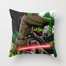 Cyber raptor Throw Pillow