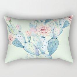 Rose Desert Cactus Mint Green + Pink by Nature Magick Rectangular Pillow