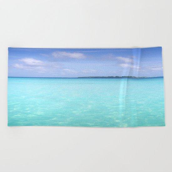 Aqua Water Island Dreams Beach Towel