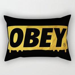 OBEY Bleeding Gold Rectangular Pillow
