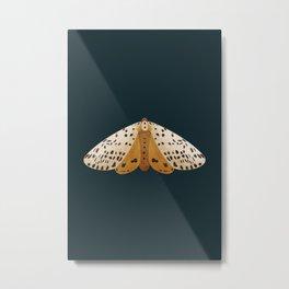 moth illustration on dark everglade background Metal Print