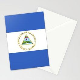 Nicaragua flag emblem Stationery Cards