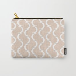 Crescent Moon Pattern - Warm Pink Carry-All Pouch