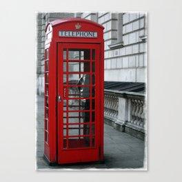 Whitehall Telephone Box Canvas Print