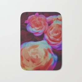 Rainbow Rose Flowers Bath Mat