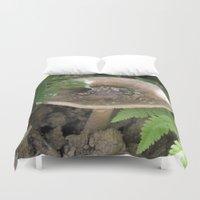 mushroom Duvet Covers featuring Mushroom by Kelsey Adams