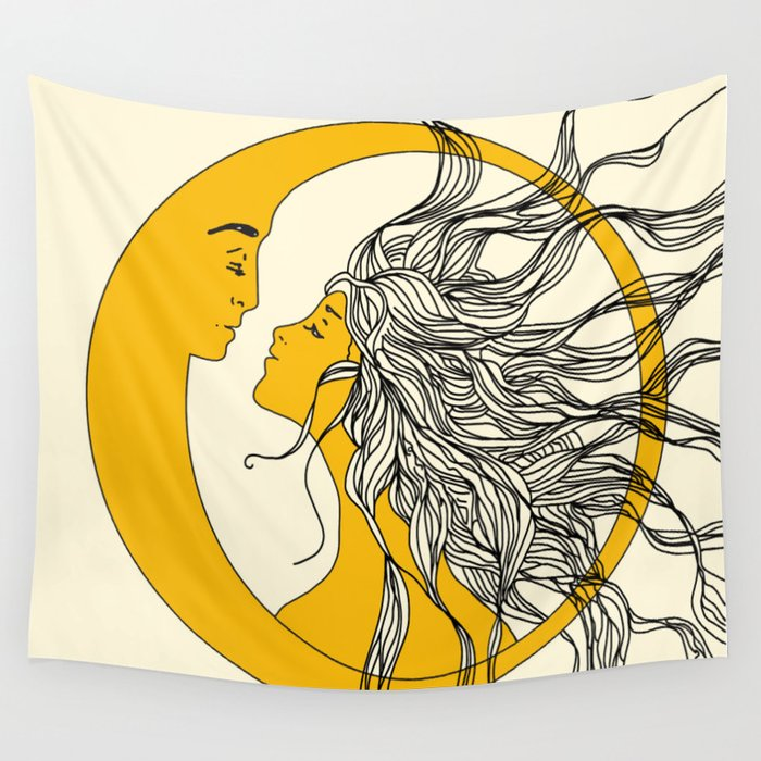 Sun and Moon Wandbehang