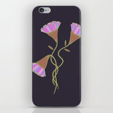 Purple Flora iPhone & iPod Skin