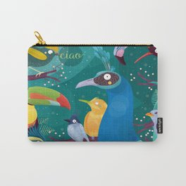 Colorful Birds in the Jungle Carry-All Pouch