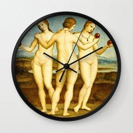 Raphael - Les Trois Graces Wall Clock