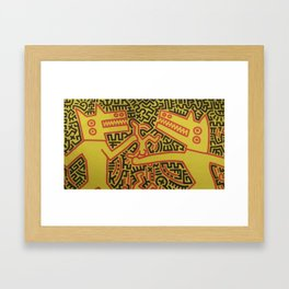 Monsters - keith haring Framed Art Print