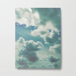 clouds sea Metal Print
