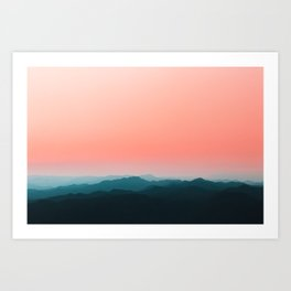 Early morning layers Art Print