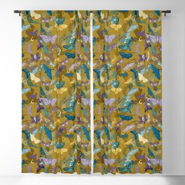 Moths & Orchids (Bamboo) Blackout Curtain