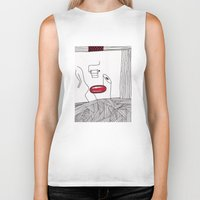 toilet Biker Tanks featuring toilet by DAMlab