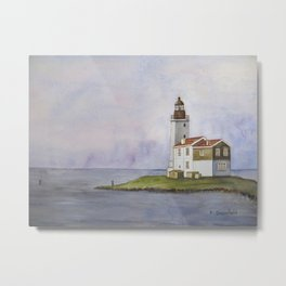 Noord Holland Lighthouse Metal Print