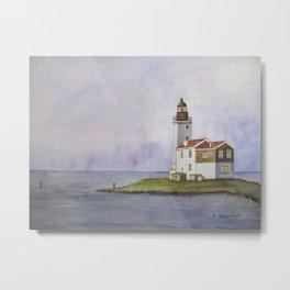 Noord Holland Lighthouse Metal Print