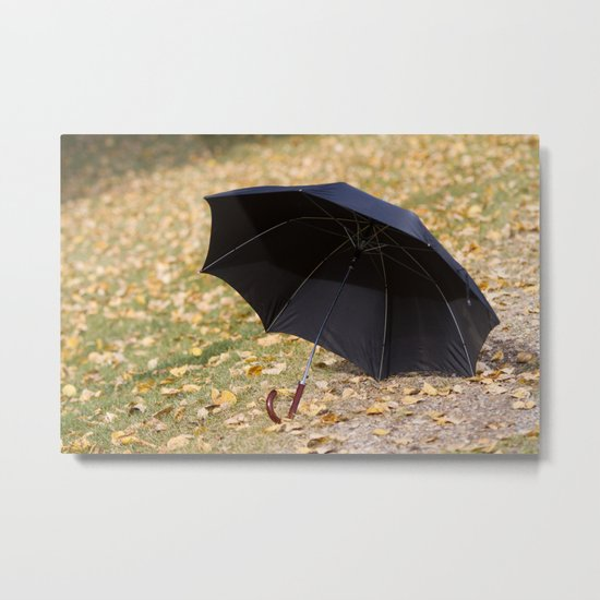 I never carry an umbrella. I'm prepared to walk in an eternal sunshine. Metal Print