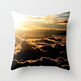 Sunset over the Atlantic Ocean Throw Pillow
