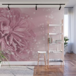 Light Pink Rose with hearts #1 #floral #art #society6 Wall Mural