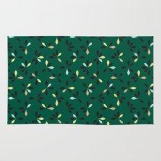 loves me loves me not pattern - hunter green Rug