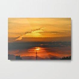 Sunset Horizon Metal Print
