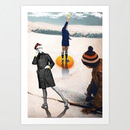 Yellow card. Art Print