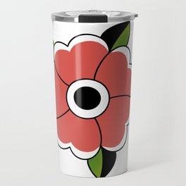 Traditional Flower Travel Mug
