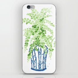 Ginger Jar + Maidenhair Fern iPhone Skin