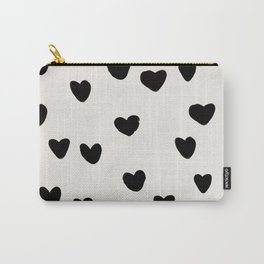 Big Hearts Brush Strokes Pattern Carry-All Pouch