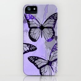 Abstract Butterfly Art Ultraviolett Colors iPhone Case