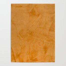 Dante Orange Stucco - Luxury - Rustic - Faux Finishes - Venetian Plaster Poster
