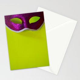 Mask: Purple + Green Stationery Cards