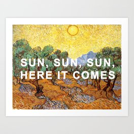 Here Comes the Yellow Sky and Sun Art Print