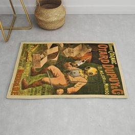 1910 Cognac Otard Dupuy Cornac Advertisement Poster Rug