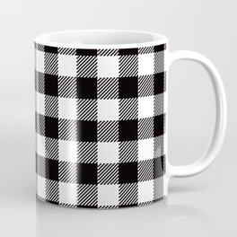 90's Buffalo Check Plaid in Black and White Coffee Mug