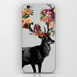 Spring Itself Deer Floral iPhone Skin