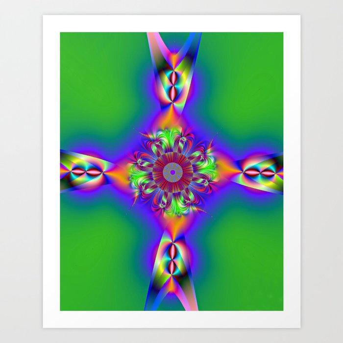 FishTail cross Art Print