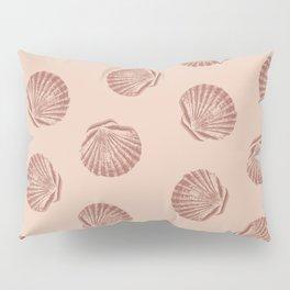 Peach Seashell Pattern Pillow Sham