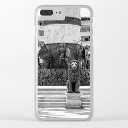 The great fountain at the Macedonia Square in Skopje Clear iPhone Case