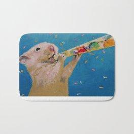 Happy Hamster New Year Bath Mat